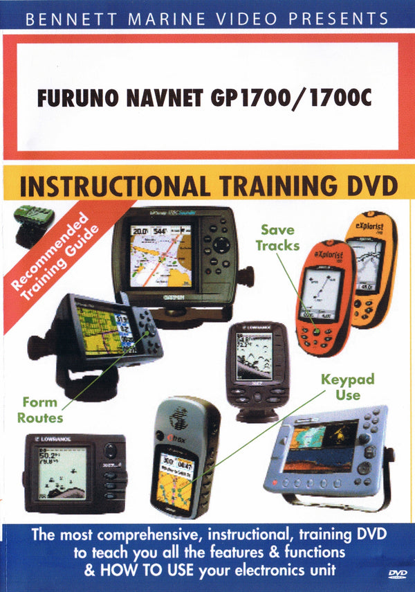 Furuno Navnet GP1700/1700C (1722[C], 1732[C], 1742[C], 1762[C]) Chartplotter Operation Only (DVD)