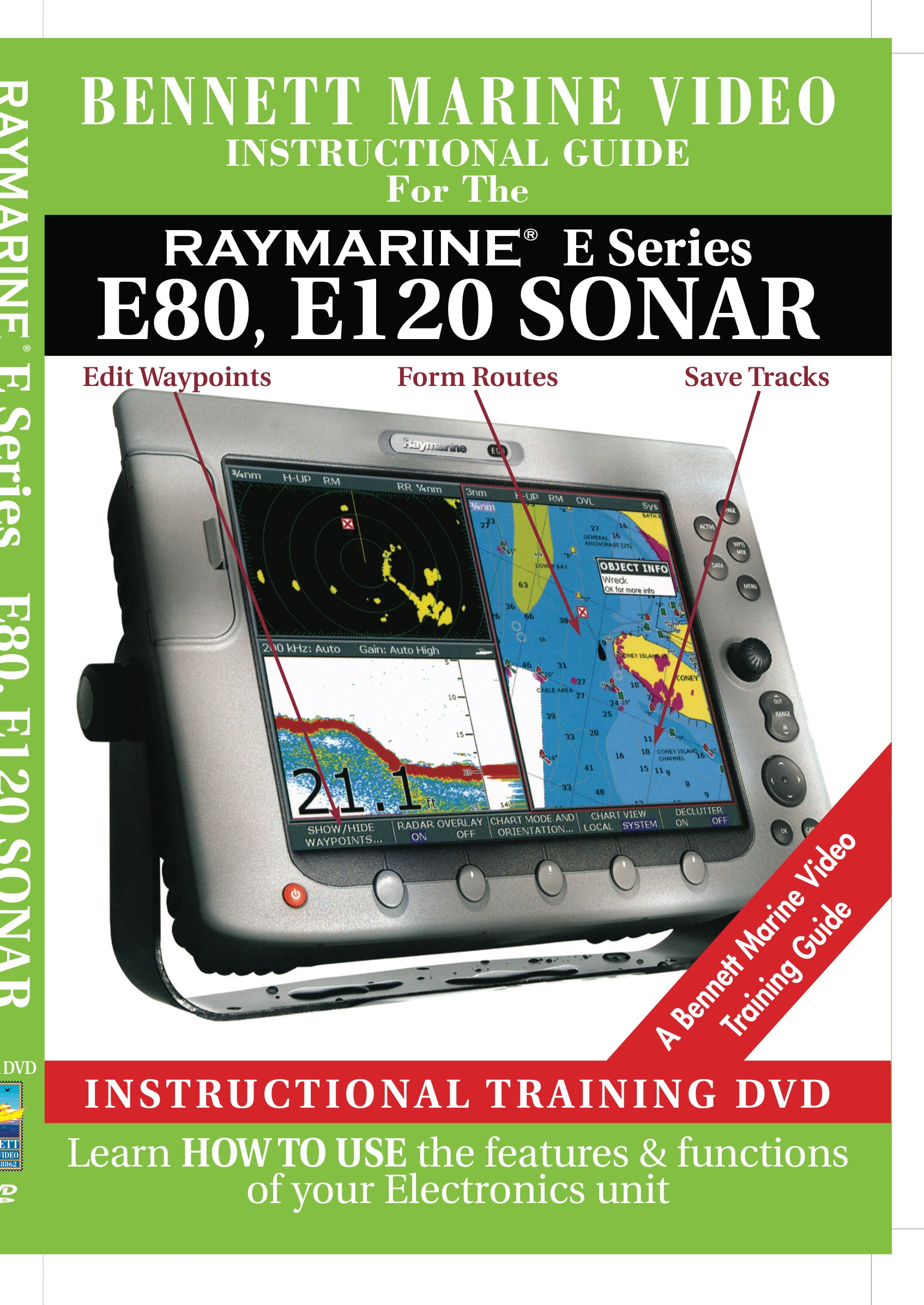 Raymarine E Series: E80, E120 Sonar Operation Only (DVD)