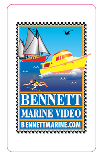 Bennett Marine Video Stamp Logo Sticker