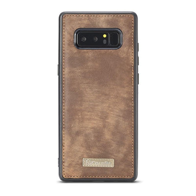 Genuine Leather Wallet Case - For Samsung