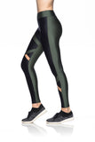 Asymmetric Tulle Leggings - Black