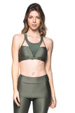 Tri Tulle Sports Bra - Military Bright Green