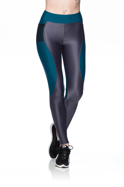 Reflect Tri Leggings - Dark Green