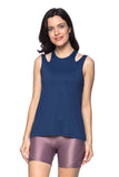Reflect Tank Top - Navy Blue