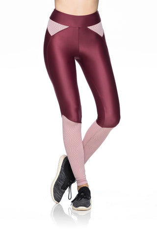 Texture Leggings- Dark Burgundy
