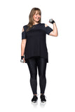Merci Texture T-Shirt - PLUS SIZE - Black