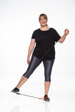 Micro Reflect Capri - Plus Size - Graphite