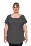 New Pocket T-Shirt - PLUS SIZE - Grey