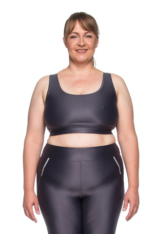 Ju New Sports Bra - Graphite - Plus Size