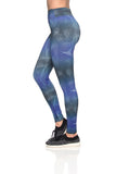 Reversible Legging - Crash B&W + Optical Blue