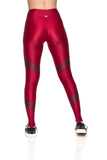 Snake Leggings - Dark Red