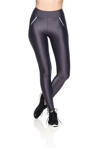 Zipper Reflect Leggings - Graphite