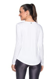 Perfect Basic Zip Tee Long Sleeve - White