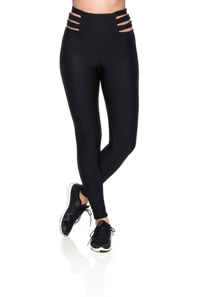 Stripe Skin Leggings - Black