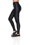 Zipper Reflect Leggings - Black