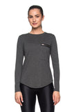 Perfect Basic Zip Tee Long Sleeve - Gray