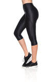 Micro Reflect Capri Pants - Black