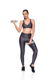 Crystal Micro Leggings - Graphite