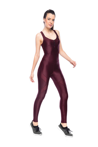 Arrow Jumpsuit - Dark Burgundy