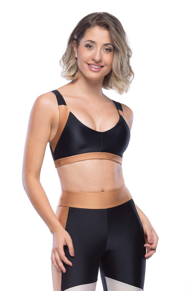 ARROW SPORT BRA - BLACK