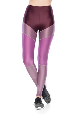 Line Legging - Dark Burgundy