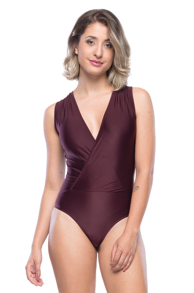 Line Bodysuit - Dark Burgundy