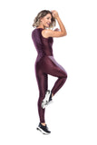 Line Lateral Legging - Dark Burgundy