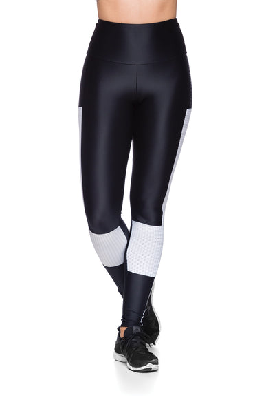 Tela Lateral Legging - Black