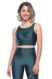 Cropped Reflect Tank - Dark green