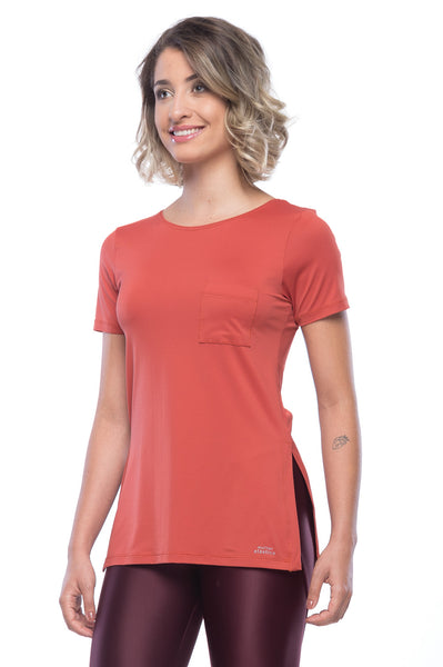 Power Pocket T-Shirt - Terracotta