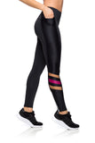 Zipper Sporty Legging - Black