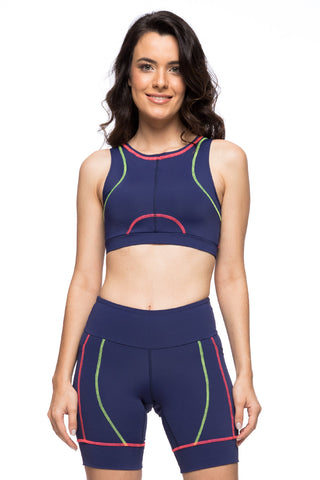 Sporty Sport Bra - Navy Blue