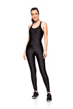Basic Shine Jumpsuit - Black