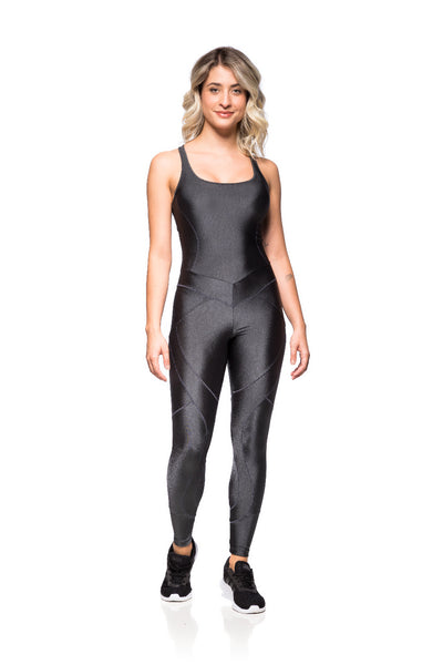 Basic Shine Jumpsuit - Graphite