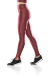 Tec Zip Leggings - Dark Burgundy