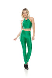 Tec Zip Leggings - Green