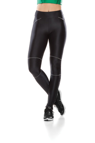 Tec Zip Leggings - Black