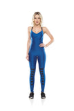 Lace Up Jumpsuit - Turquoise