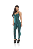 Lace Up Jumpsuit -Green