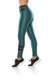 Lace up Leggings - Green