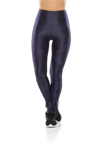 Zip Arrow Leggings - Navy Blue