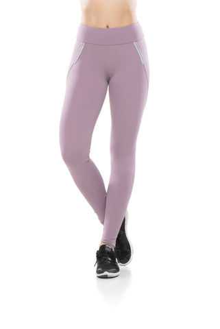 Zipper Reflect Confort Leggings - Lilac