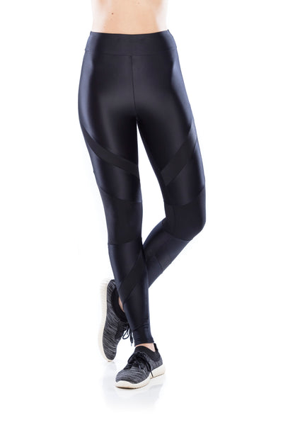 Workout Tela Legging - Black
