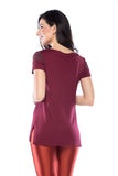 T-Shirt Workout -  Dark Burgundy