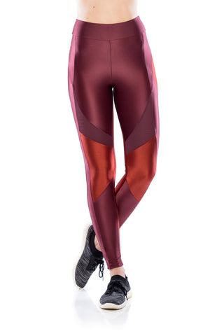 Workout Leggings - Dark Burgundy