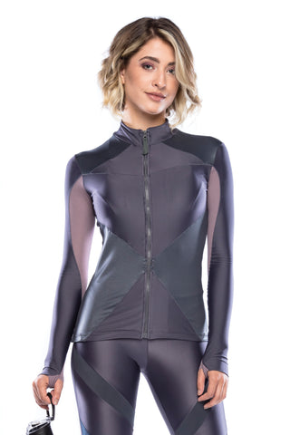 Workout Jacket - Dark Lilac