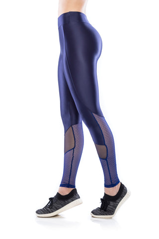 Mesh Legging - Dark Blue