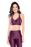 Mesh Sport Bra- Purple