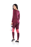 Tech Fit Textura Legging - Dark Burgundy