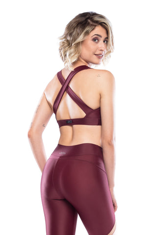 Revolution Sport Bra - Dark Burgundy